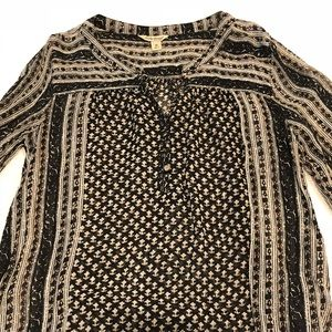 Lucky Brand Multi-Color Patterned Blouse